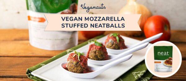 Vegan Mozzarella-stuffed neatballs