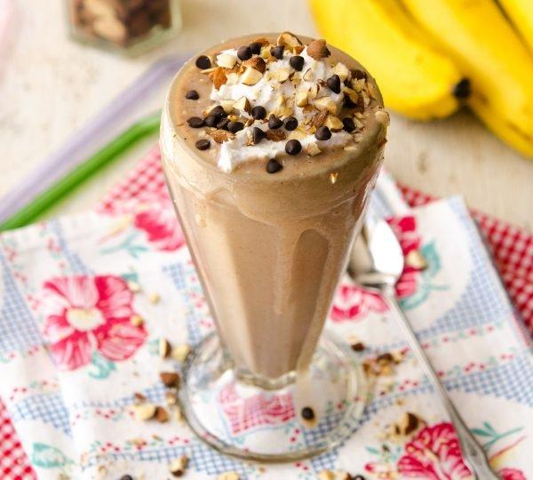 Chocolate Covered Banana Milkshake
