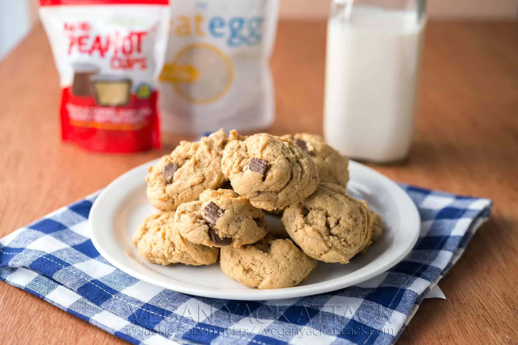 peanut butter cup cookies vegan