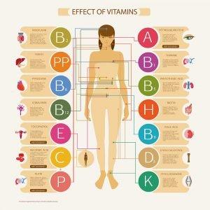 Vegan vitamins graphic