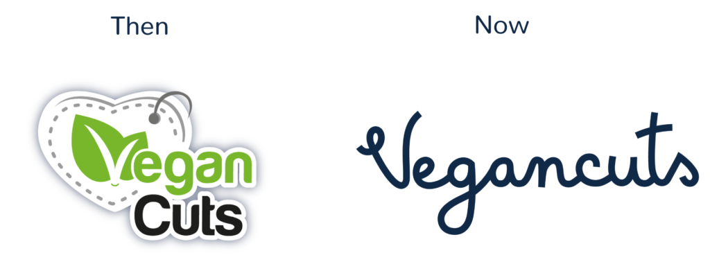 Vegancuts Logo Before After