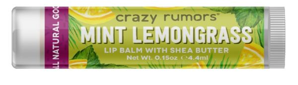 Crazy Rumors Lip Balm in Mint Lemongrass