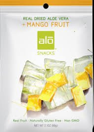 Alo Aloe and Dried Mango Snacks