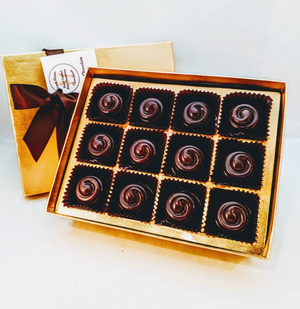 24 piece hazelnut truffles