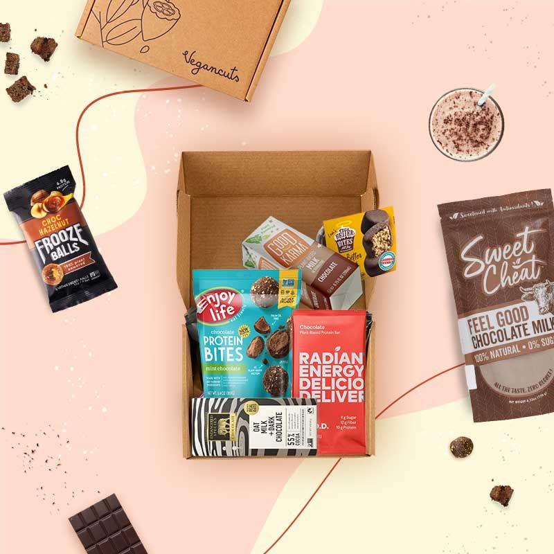 regalos veganos: caja de chocolates