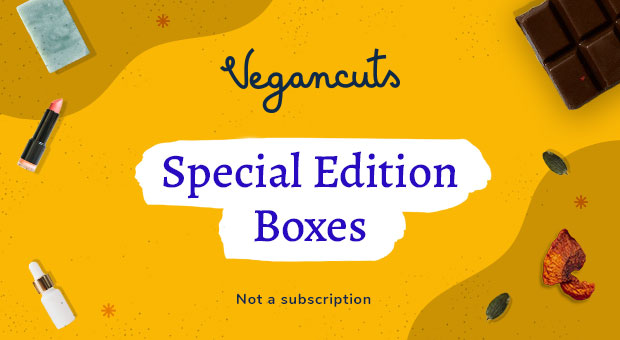 Vegancuts is offering special boxes with oversize snack and personal care favorites