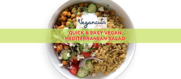 Mediterranean Salad Recipe with Vegetables and Sauce