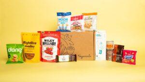 vegancuts march snack box with oat milk