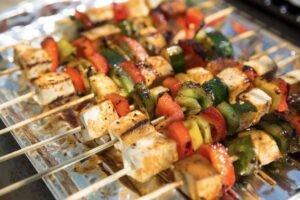 grilled tofu shish kebabs