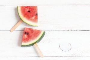 watermelon on sticks