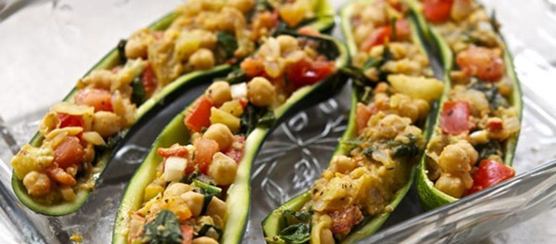 Vegan Stuffed Zucchini Boats With Dairy-Free Parmesan