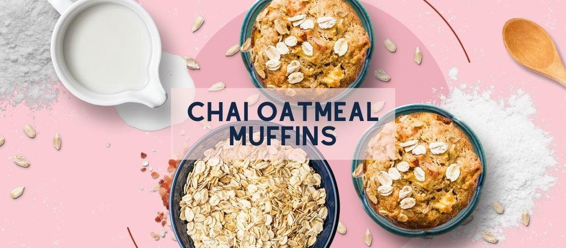 Vegan Chai Oatmeal Muffin Recipe