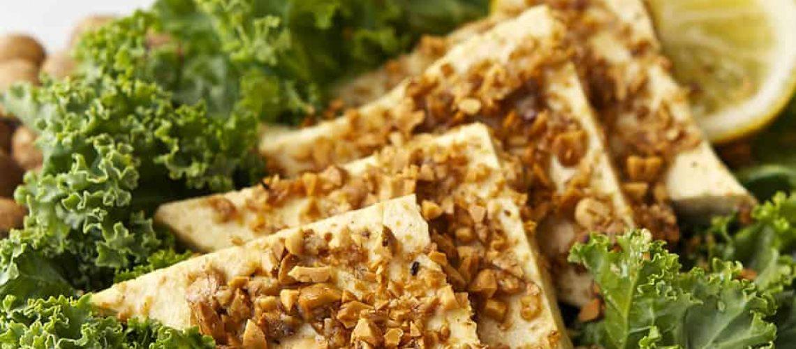 Sacha Vida Inchi Crusted Lemon Mustard Tofu Vegan